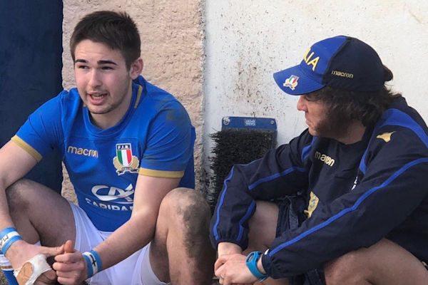 Ferrarin con il coach Paul Griffen