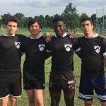 tre giocatori dell'Under 16 bianconera con le maglie celebrative