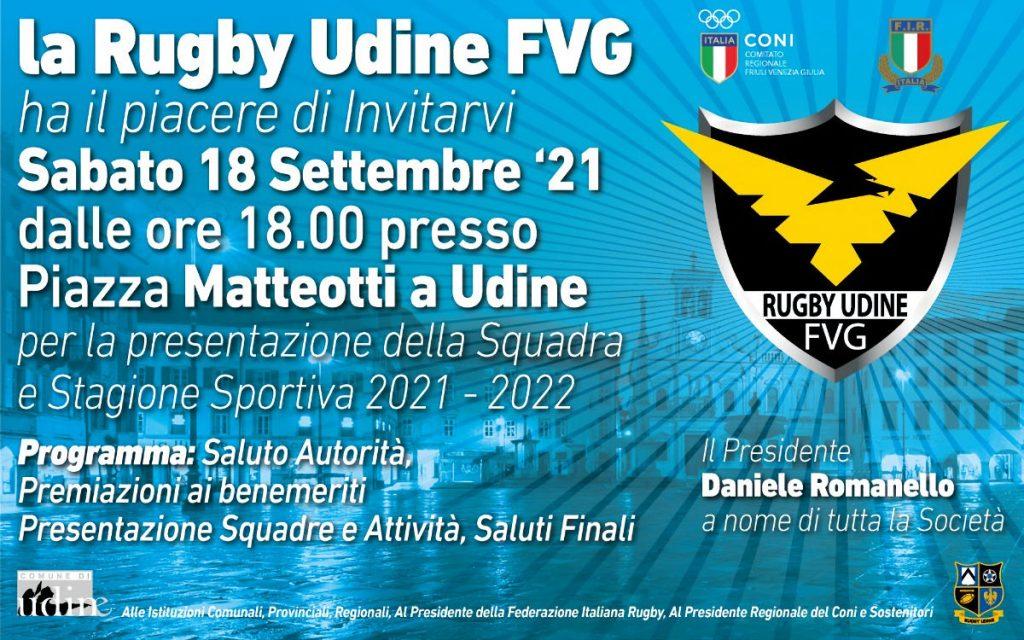 La Rugby Udine si presenta alla città